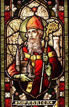 Saint Patrick (colored glas window)