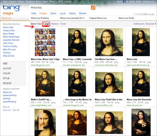Bing imageSearch (Mona Lisa) - View Large