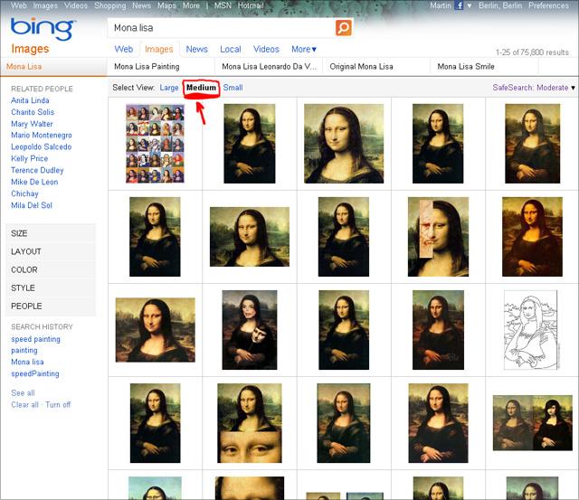 Bing imagesearch - Select View: Medium