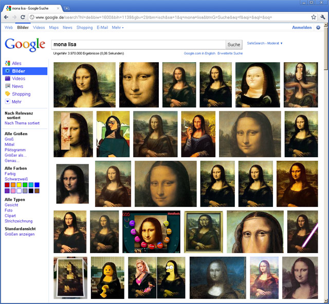 New Google imagesearch rolled out in Germany