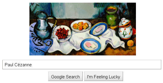 Google honors 172nd birthday of french artist Paul Cézanne with a doodle