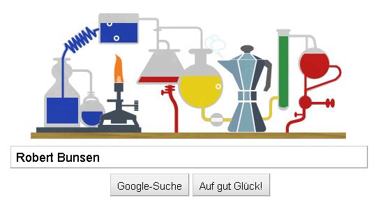 Robert Bunsen's bubbling doodle