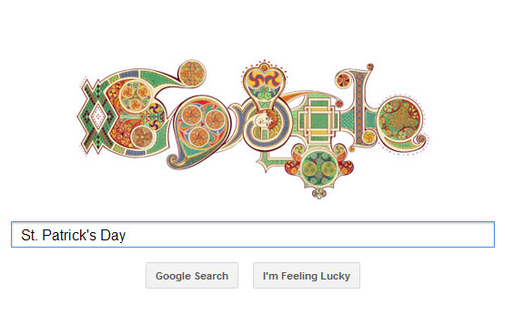 St. Patrick's Day Google Doodle 2012
