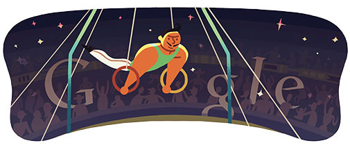 London 2012 Artistic Gymnastics Men's Rings (Google Doodle)