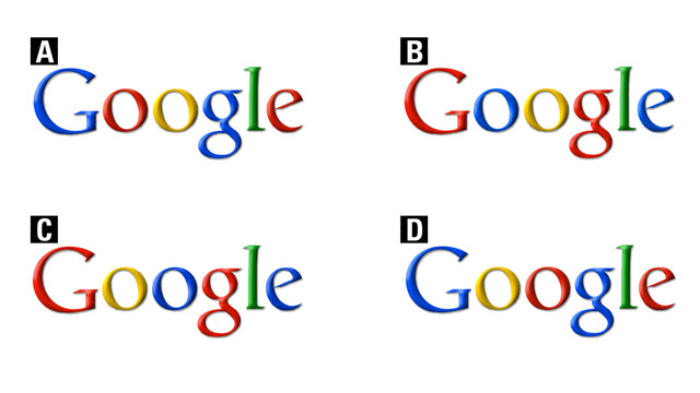 Which of the logos is the correct Google logo???