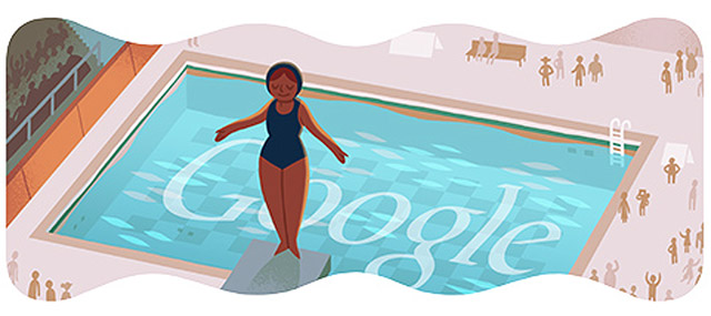 "London 2012: ""Diving"" (Google Doodle)"
