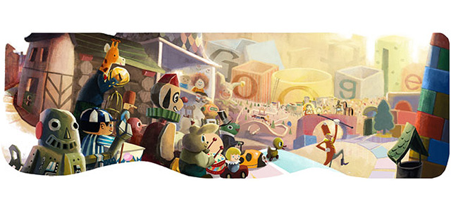 Happy Holidays from Google - Doodle 2012