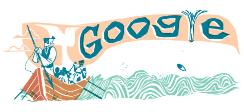 Herman Melville Books - Moby Dick Google Doodle