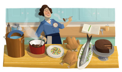 Julia Child Google Doodle