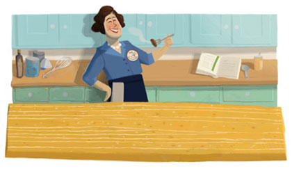 Julia Child Kitchen (before the doodler began)