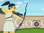 London 2012 Archery Doodle
