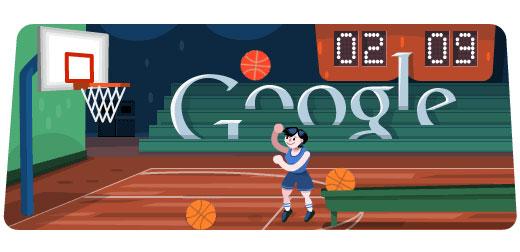 London 2012 Basketball (Google doodle)