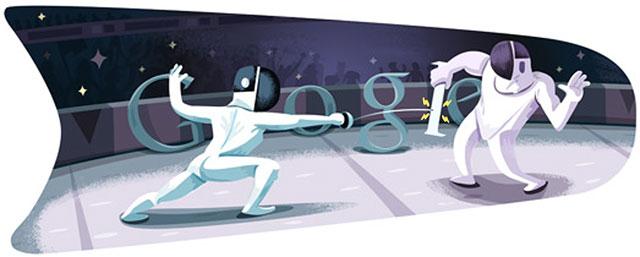 London 2012: Fencing Doodle