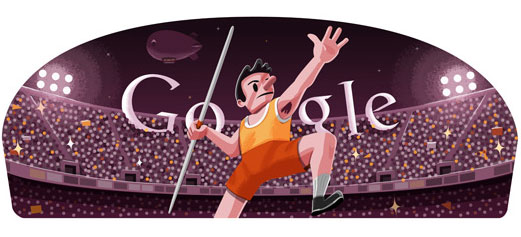London 2012 Javelin (Google Doodle)