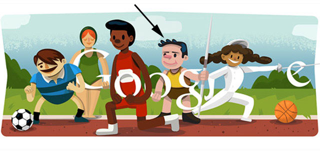 Opening Ceremony Doodle (London 2012) incl. Javelin Thrower
