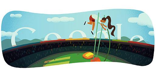 Pole Vault Doodle (Track & Field)