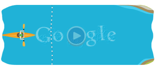 London 2012: Slalom Canoe Google Doodle