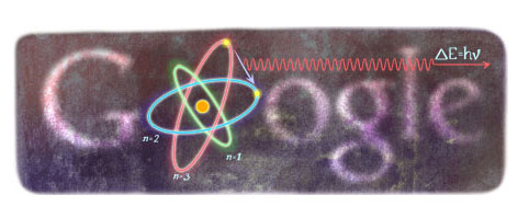 Niels Bohr Google Doodle (Oct. 7th, 2012)