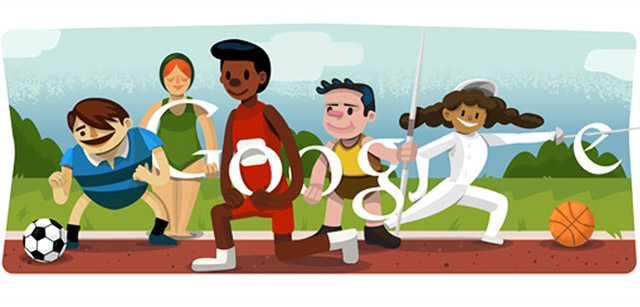 Google Doodle for the Olympics Opening Ceremony Londo 2012
