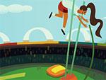 Pole Vault - Olympics Doodle