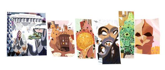 Antoni Gaudi Doodle (25.06.2013)