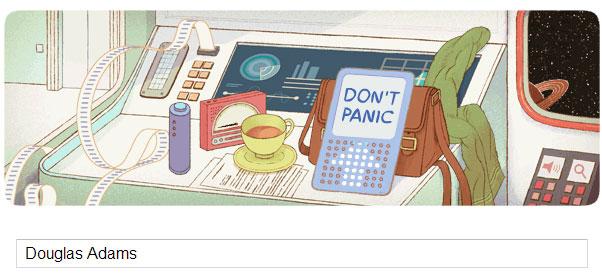 Douglas Adams Doodle (11 March 2013)