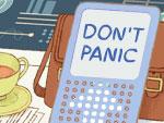 Douglas Adams Doodle (Don't Panic)