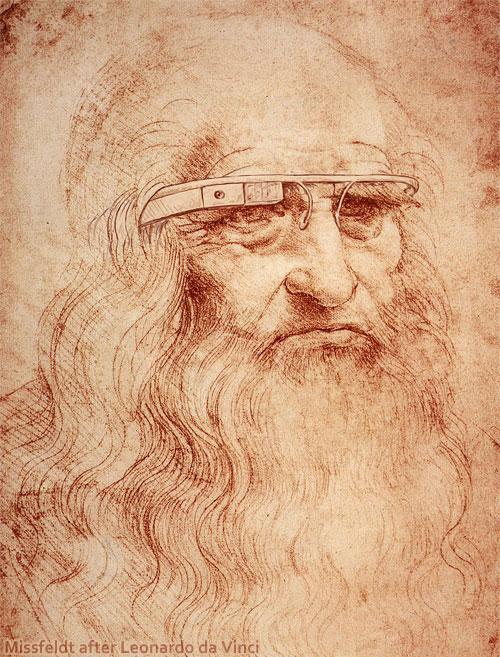 Leonardo da Vinci with Google Glass