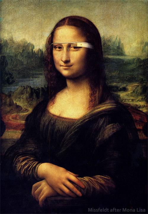 Mona Lisa with Google Glass