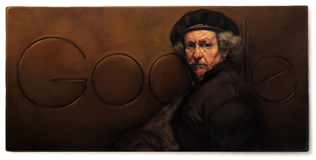 Rembrandt van Rijn - Google Doodle on July 15th 2013