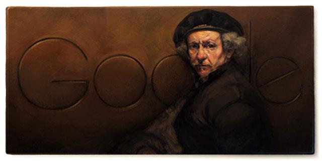 Rembrandt van Rijn - Google Doodle on July 15th 2013