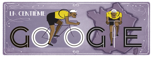 100th Tour de France Doodle (2013)